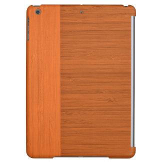Terracotta Clay Bamboo Border Wood Grain Look iPad Air Case