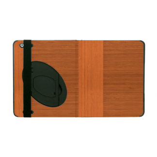 Terracotta Clay Bamboo Border Wood Grain Look iPad Case