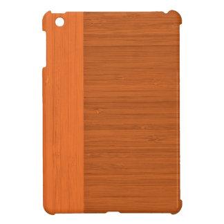 Terracotta Clay Bamboo Border Wood Grain Look iPad Mini Cover