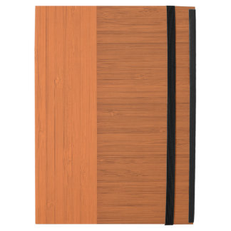 "Terracotta Clay Bamboo Border Wood Grain Look iPad Pro 12.9"" Case"