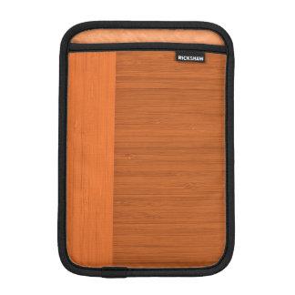 Terracotta Clay Bamboo Border Wood Grain Look Sleeve For iPad Mini