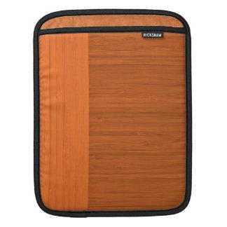 Terracotta Clay Bamboo Border Wood Grain Look Sleeve For iPads