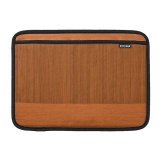 Terracotta Clay Bamboo Border Wood Grain Look Sleeve For MacBook Air