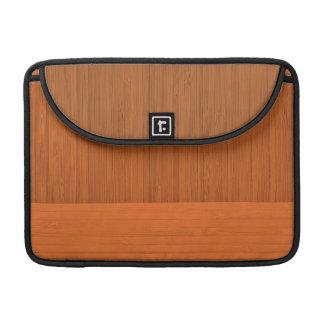 Terracotta Clay Bamboo Border Wood Grain Look Sleeve For MacBooks