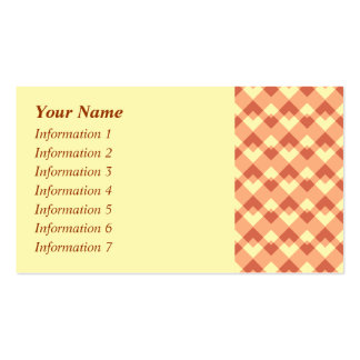 Terracotta color pattern. Double-Sided standard business cards (Pack of 100)