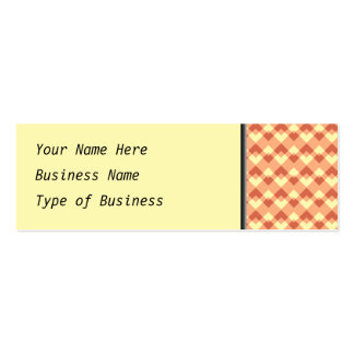 Terracotta color pattern. Double-Sided mini business cards (Pack of 20)