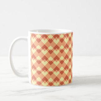 Terracotta color pattern. classic white coffee mug