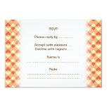 Terracotta color pattern. 3.5x5 paper invitation card