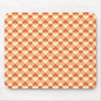 Terracotta color pattern mouse pads