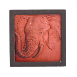 """Terracotta Elephant"" by Carter L. Shepard"" Jewelry Box"
