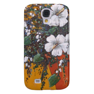 terracotta floral galaxy s4 cover