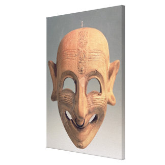 Terracotta grinning mask from San Sperate, 6th-5th Canvas Print