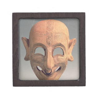 Terracotta grinning mask from San Sperate, 6th-5th Jewelry Box