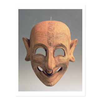 Terracotta grinning mask from San Sperate, 6th-5th Postcard