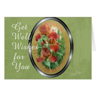 TerraCotta Iris Get Well Card-customize sentiment Card