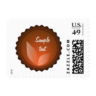 Terracotta Leaf Postage Stamp