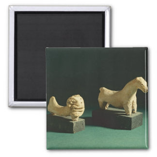 Terracotta lion and horse, Mohenjodaro 2300-1750 B Magnet