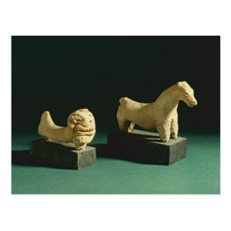 Terracotta lion and horse, Mohenjodaro 2300-1750 B Postcard
