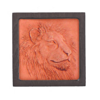 """Terracotta Lion"" by Carter L. Shepard"" Jewelry Box"