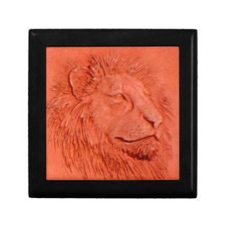 """Terracotta Lion"" by Carter L. Shepard"" Jewelry Box"