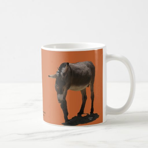 Terracotta Orange Little Burro - Animal Rescue Mugs