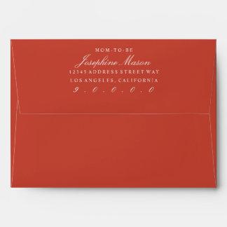 Terracotta Orange Polka Dot Interior Envelope