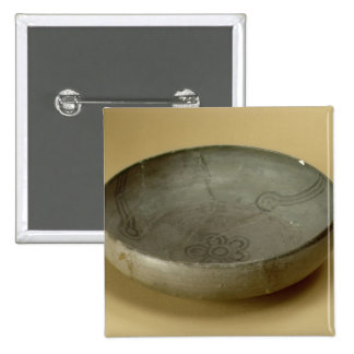 Terracotta painted grey ware, Hastinapur, 800-400 2 Inch Square Button