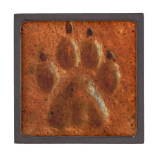 """Terracotta Paw Print"" by Carter L. Shepard"" Gift Box"