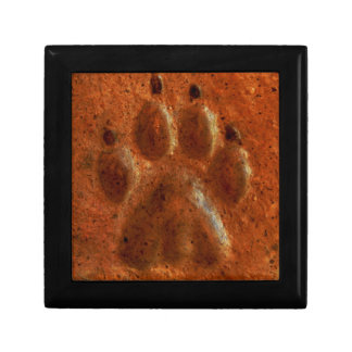 """Terracotta Paw Print"" by Carter L. Shepard"" Keepsake Box"