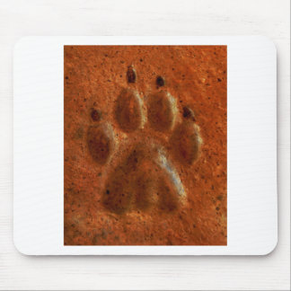 """""""Terracotta Paw Print"""" by Carter L. Shepard"""" Mouse Pad"""
