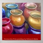 Terracotta pots poster