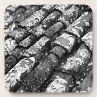 Terracotta roof tiles drink coaster