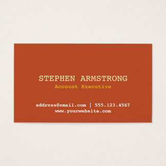 Terracotta simply modern professional executive business card