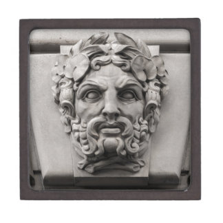 Terracotta Stone Faces on Historic Building Jewelry Box