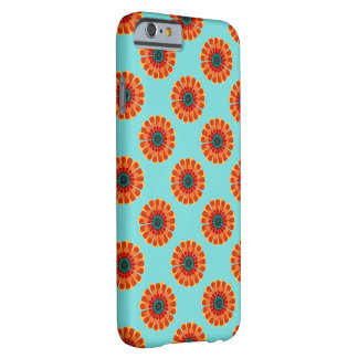 Terracotta & Teal Flower Barely There iPhone 6 Case