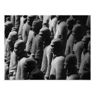 Terracotta Warriors Xian China Photography Photo Poster