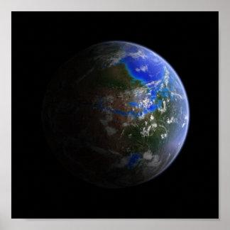 Terraformed Mars Poster