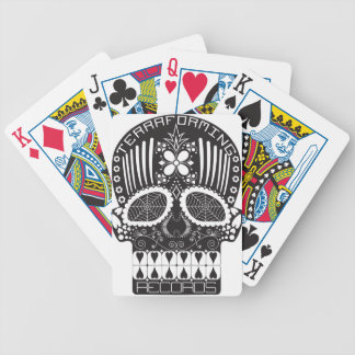 Terraforming Records Black Skull Playing Cards