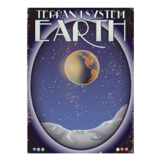 Terran 1 System Earth sci-fi travel poster