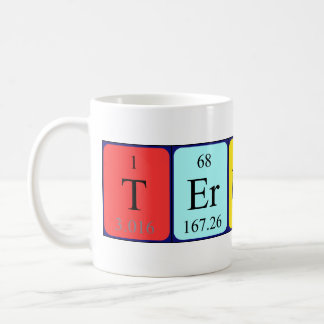 Terrance periodic table name mug