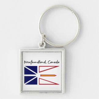 Terranova Canadá Llavero Cuadrado Plateado