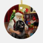 Terranova negro #2 de Santa Ornamentos De Reyes Magos
