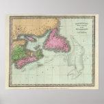 Terranova Nueva Escocia y Nuevo Brunswick Póster