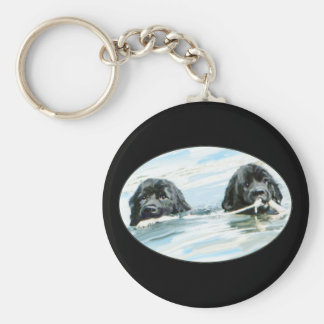 Terranova persigue la natación llavero redondo tipo pin