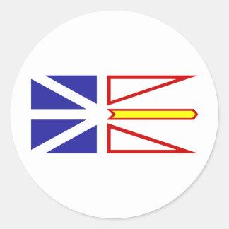 Terranova y Labrador Canadá Pegatinas Redondas