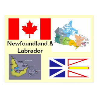 Terranova y Labrador Canadá Tarjeta Postal