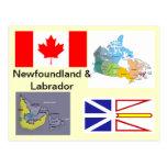 Terranova y Labrador Canadá Tarjetas Postales