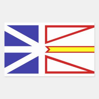 Terranova y Labrador Pegatina Rectangular