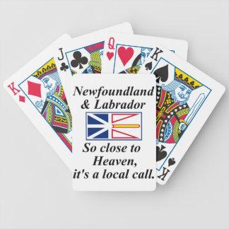 Terranova y Labrador se cierran tan al cielo Baraja Cartas De Poker
