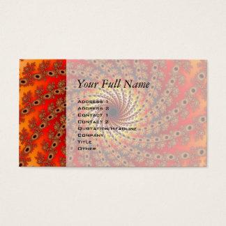 Terrapin Spin Fractal Art Business Card